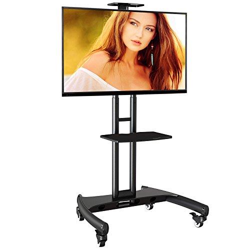 AVA1500B - Supporto TV da pavimento con ruote per schermi LCD LED e TV curvi da 32' a 65' (81-165 cm) con portata max. 45,5 kg