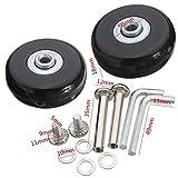 ICTRONIX par de Equipaje, maletín Wheels Rueda de Repuesto para Maleta Equipaje 40mm x 18mm