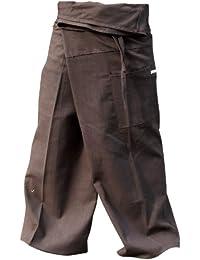 Brown THAI COTTON Fisherman Pants...Freesize