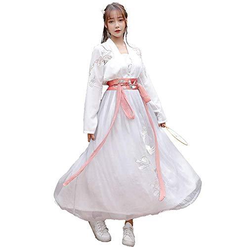 Susichou Chinesischen Stil Hanfu He Yun Zwei tragen Dance Rock Big Swing Rock Graduation erwachsenes Kleid (M) Graduation Kleid