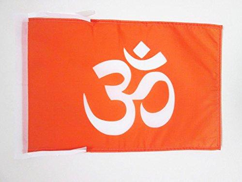FLAGGE HINDUISMUS 45x30cm mit kordel - HINDU FAHNE 30 x 45 cm - flaggen AZ FLAG Top Qualität