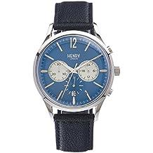 Henry de Londres Unisex Reloj de Pulsera Knightsbridge Cronógrafo Cuarzo Piel hl41de CS de 0039 (Reacondicionado Certificado)