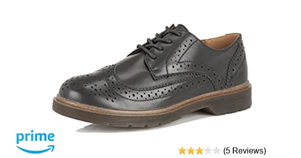 LADIES DOLCIS INGRID BLACK BROGUES BACK TO SCHOOL OFFICE GIBSON SHOES UK 7