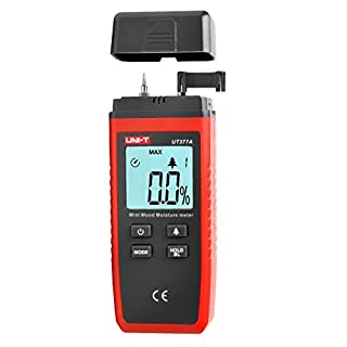 ANRIS Uni-T UT377A Digital Holz Feuchtigkeit Tester Feuchtigkeitsmesser Holzfeuchte-Tester Feuchtigkeitsmessung Meter Tester von Holzfeuchte