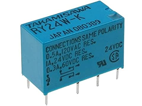 RY-24W-K Relay electromagnetic DPDT Ucoil24VDC 0.5A/120VAC 1A/24VDC