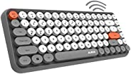 Sinco AJAZZ Wireless Bluetooth Keyboard Mini Portable 84-Key Typewriter Keyboard Compatible with Android, Ipad