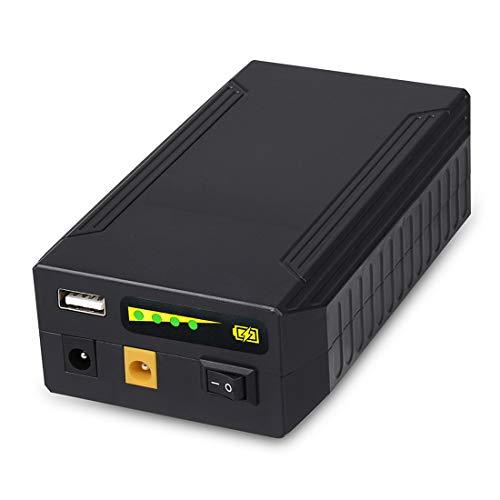 TalentCell Wiederaufladbare 72W 100WH 12V/8300mAh 9V/11000mAh 5V/20000mAh DC Ausgang Lithium-Ionen-Akku für LED-Streifen, Band-Licht, CCTV-Kamera und mehr, Schwarz