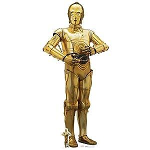 Star Cutouts Ltd C-3PO (The Last Jedi) Ausschnitt, Pappe, Mehrfarbig, 179 x 80 x 179 cm