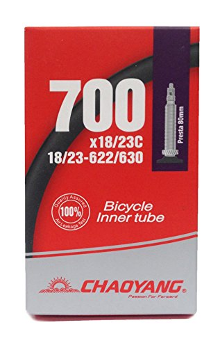 CYT 700x 18?23C/71,1cm Road, Fixie Bike Inner Tube F/V lang Presta, schwarz, 80 mm (Inner Fixie-bike Tube)