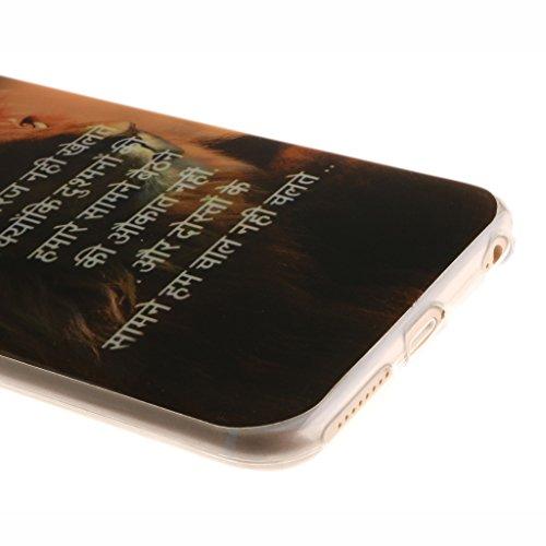 """iPhone 6 Plus Coque, SsHhUu [Milky Way] Ultra Slim Doux TPU Flexible Durable Gel Silicone Protecteur Rear Skin Painting Art Étui Housse Case Cover pour Apple iphone 6s Plus and iphone 6 Plus (5.5"""") Lion"""