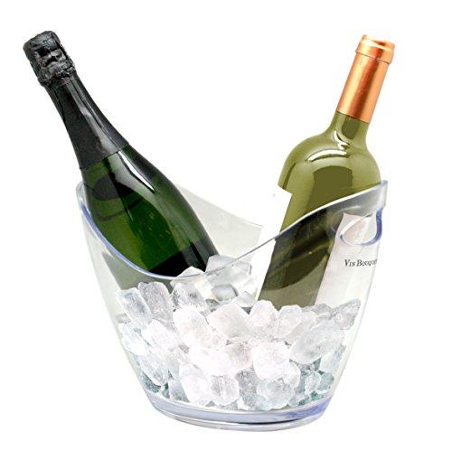 Vin Bouquet Cubitera Transparente para Dos Botellas, ABS, 27x20x20 cm