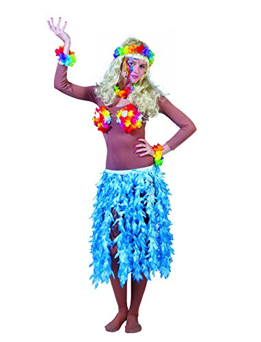 Hawaii Rock Maui Damen Einheitsgröße blau Sommer Urlaub Strand Motto Party Kostüm Karneval Fasching (Kostüme 60's Party Beach)