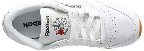 Reebok Classic Leather, Baskets Basses Mixte Adulte Blanc (White/Gum - 2)