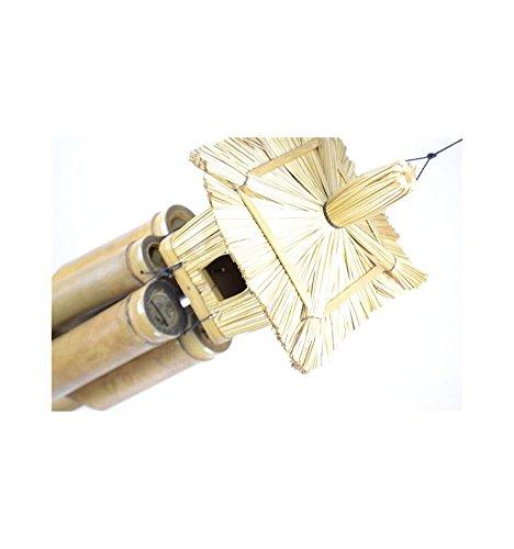 Carillon à vent avec nichoir. Bambou et paille. Pour intérieur ou extérieur.