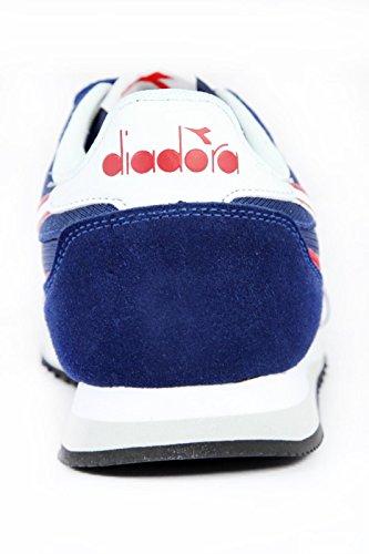Diadora Malone, Sneaker a Collo Basso Unisex – Adulto Saltire Navy / Bordeaux