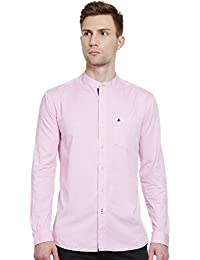 Bombay High Men's 100% Cotton Chinese Collar Full Sleeves Shirt