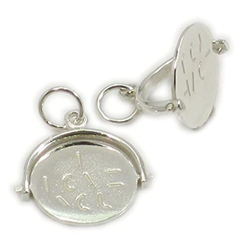 I Love You Sterling Silver Spinner Charm .925 x 1 Spinning charms BJ2096