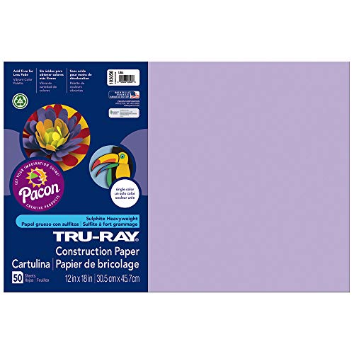 Pacon erhältlich 103050TRU-Ray Konstruktion Papier, 76lbs, 12x 18, Lila, 50Blatt/Pack