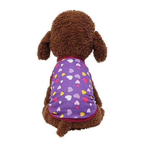 �rmellose Hundeweste, atmungsaktive Baumwolle, für den Sommer Weste Dog Shirt weiches Sweatshirt ärmelloses Kostüm für kleine Hunde ()