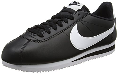 Nike Classic Cortez Leather, Zapatillas de Running para Mujer, Negro (Black/White/White 010), 36 EU