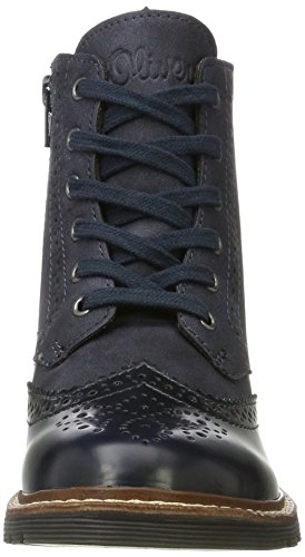 s.Oliver Damen 25465 Combat Boots Blau (Navy)