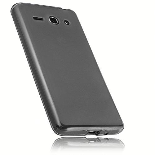 mumbi Schutzhülle für Huawei Ascend Y530 Hülle transparent schwarz