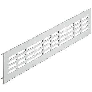 Belüftungsblech rechteckig Lüftungsgitter Aluminium silber Stegblech Möbel & Tür-Gitter oval - H6001 | Länge 400 mm | Breite 80 mm | MADE IN GERMANY | Möbelbeschläge von GedoTec®