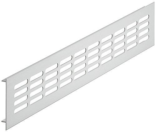 Belüftungsblech rechteckig Lüftungsgitter Aluminium silber Stegblech Möbel & Tür-Gitter oval -...