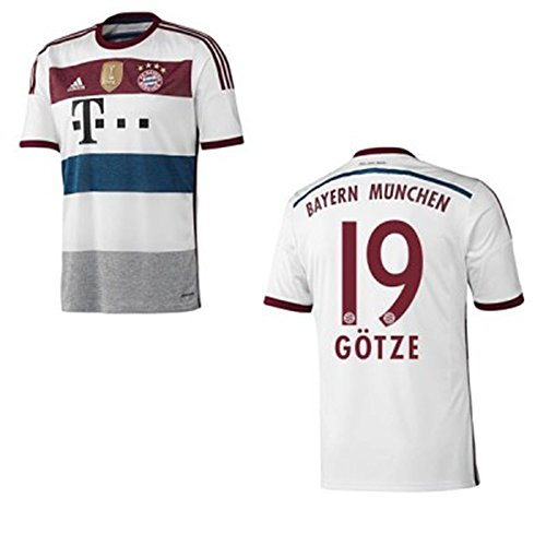 adidas FC BAYERN MÜNCHEN Trikot Away WC Herren 2014 / 2015 - GÖTZE 19, Größe:L (Away Erwachsene Trikot)