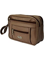 50eaf8260b66 Widnes Synthetic Small Hand Pouch Brown Toiletry Sling Bag