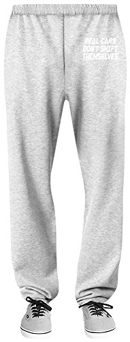 Real Cars Don't Shift Themselves Relaxed Jersey Pants - 70% Baumwolle, 30% Polyester - Hochwertige Sweatpants für Indoor & Outdoor Aktivitäten Medium (Fit-shift Relaxed)