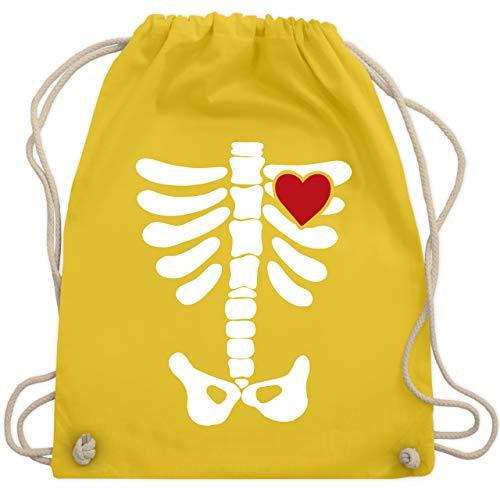 Halloween - Skelett Herz Halloween Kostüm - Unisize - Gelb - WM110 - Turnbeutel & Gym Bag