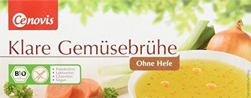 Cenovis Bio Klare Gemüsebrühe ohne Hefe, laktosefrei, glutenfrei und vegan, 1er Packung (1 x 132 g) -