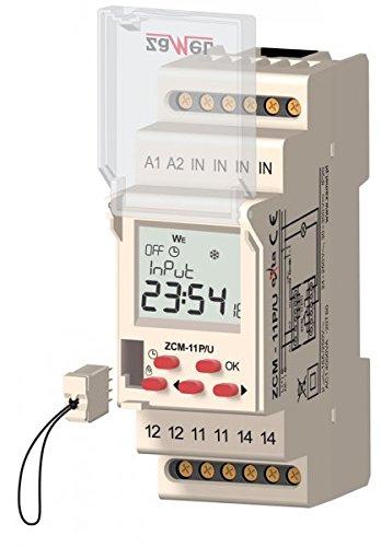 Digitale Zeit Programmierer zcm-11p/U, 7Tage, 24÷ 250V AC/30÷ 300V DC, Ausgang 16A/250V AC14000VA -