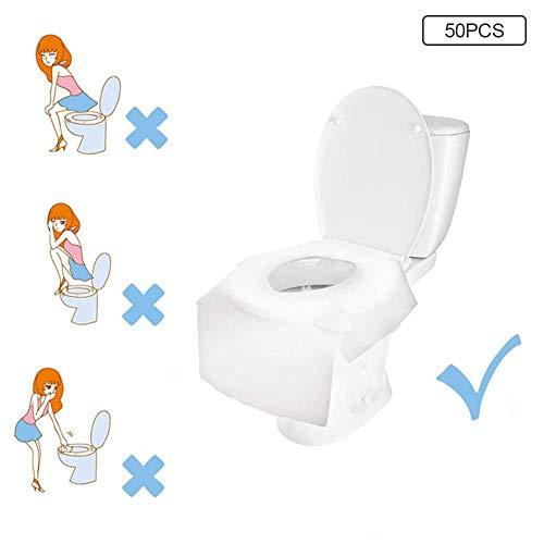 WXGY 50 STÜCKE Einweg Toilettensitz Kissen Papier Verdickung Reisetourismus Mütterlichen Paste Toilettensitz Wasserdicht Toilettenpapier für Erwachsene Und Kinder Töpfchen Heimreise Verwenden -