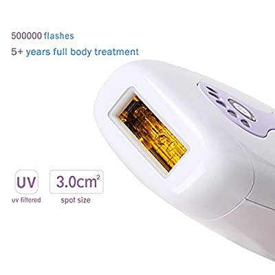 Ketrina IPL Hair Removal Beauty Device Painless Men and Momen's Hair Epilator for Face and Body Use Portable Permanent Hair Remover with Goggles for Home Use 500,000 Flashes