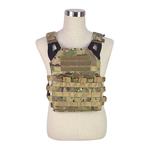 DETECH- Chaleco táctico JPC MOLLE con diseño Militar de Carrito de Caza, Chaleco Protector para Airsoft CS, CP