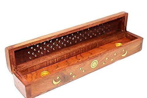De haute qualité sculpté boîte d'encens en bois Sheesham pour