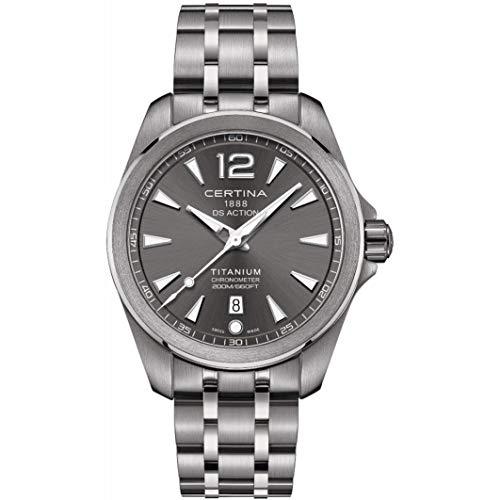 Certina Men's DS Action 41mm Titanium Bracelet Quartz Watch C032.851.44.087.00