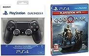 Dualshock 4 Wireless Controller for Playstation 4 - Black V2&PS4 God of War (