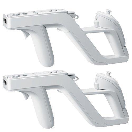 Mini Kitty® 2 x Zapper Pistole für Wii, kabellose Fernbedienung, Spiel, perfekte Passform für Nunchunk, Remote Plus (Für Wii Training-spiele)