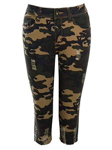 SS7 Damen Camouflage Pedal Pusher Shorts für mittlere Taille -