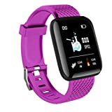 Fitness Smart Watch Band Sport Activity Tracker For Kids (Color : Purple)