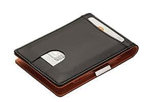 Portemonnaie mit GELDKLAMMER für Herren: Kreditkartenetui mit Geldclip, Geldbörse mit Visitenkartenetui, Geldbeutel mit Geldscheinklammer, Portmonee Dollarclip, Brieftasche mit Kartenetui, Geldtasche