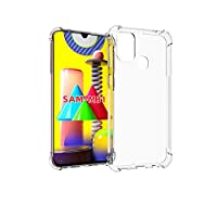 For Samsung Galaxy M31 Case, [Bumper] Exculsive Silicon Transparent With Anti Dust Plugs Shockproof Slim Back Cover Case For Samsung M31
