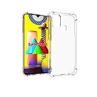 جراب لهاتف Samsung Galaxy M31، [ممتص للصدمات] سيليكون شفاف للغاية مع سدادات مضادة للغبار والصدمات غطاء خلفي نحيف لهاتف Samsung M31