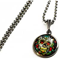 Día de Muertos, Calavera | Mexikanischer Totenkopf | Edelstahl Halskette