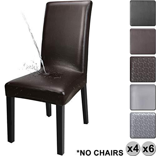 YISUN Cubiertas para sillas de Comedor, Cubierta Protectora Lavable removible de la...