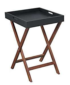 Convenience Concepts Designs2Go Baja End Table with Removable Tray, Black by Convenience Concepts
