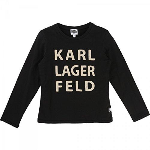 Karl Lagerfeld - T-Shirt Manches Longues Noir - 4 Ans, Noir